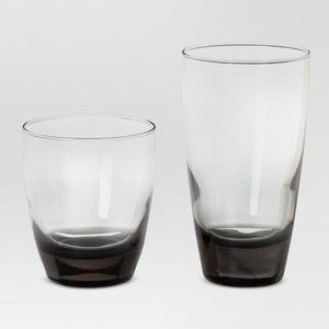 A12pc Glass Sherbrook Assorted Tumblers Smoke